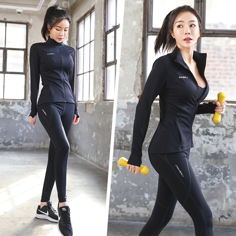 Autumn and winter fitness clothes female trendy gym professional sports sexy yoga clothes high-end thin fashion suit