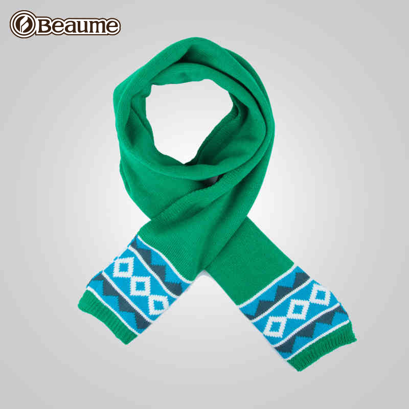 Beaume Baomei outdoor double-deck velveted knitted scarf for men and women
