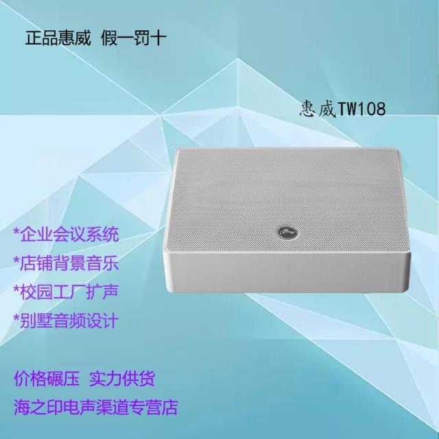 Huiwei TW108 wall-mounted speaker conference room background music special genuine goods