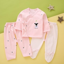 Newborn baby clothes autumn suit top and bottom monk suit