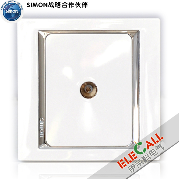 Simon Switch Xingui 58 Series TV Socket S55111