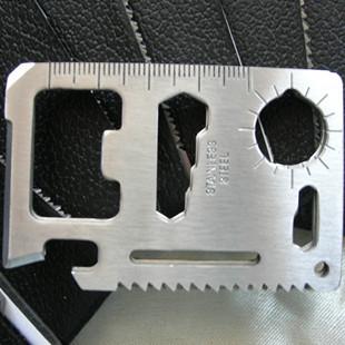 Multi-functional knife card Swiss knife card wann outdoor camping tool card wild life-saving