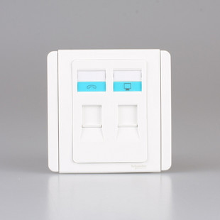 Qisheng E3000 White + Bai Schneider Qisheng Switch Socket Authentic Telephone and Network Socket Panel