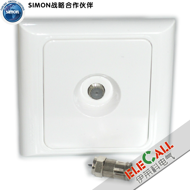 Simon Switch Euro 61 Series Series Series Series TV Socket J60473