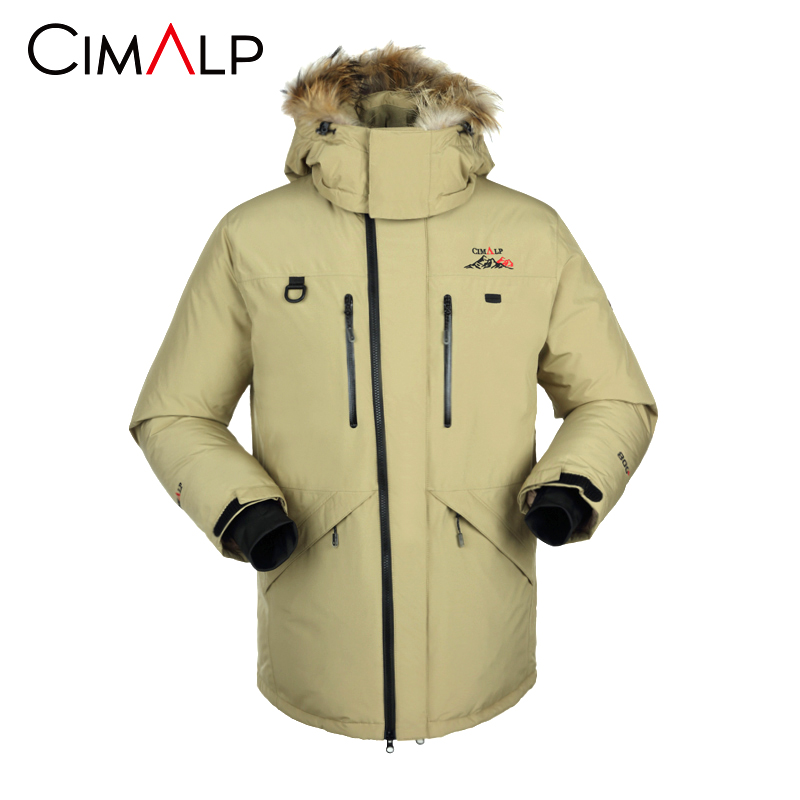 [The goods stop production and no stock]Himalatu men's down jacket outdoor skiing leisure Warm White Velvet windproof waterproof breathable jacket E