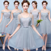 Bridesmaid Dresses short 2017 new summer dress Bridesmaids Dress Korean sisters evening gown dress