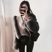[new] sell imitation fur Angora Womens autumn jacket tide 2016 Korean jacket Plush coat