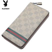 M long section of the new Playboy wallet money entrainment zipper hand bag business casual men's fashion clutch