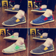The summer trend of Korean men's canvas shoes pedal lazy shoes old Beijing shoes all-match's casual shoes