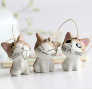 Hot little strange handmade ceramic lovely cat and white Japanese and Korean popular jewelry accessories manufacturers