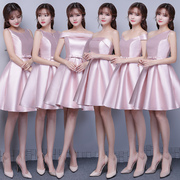 Bridesmaid Dresses short paragraph 2017 new spring jade Fenduan face Bridesmaids Dress sisters Dress Bridesmaid Dress summer