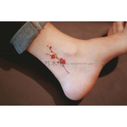 [original] ankle waterproof tattoo stick men and women long lasting realistic J ankle Korea small fresh