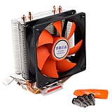 Code of the CPU fan desktop computer fan CPU fan mute 775/1155 radiator pure copper heat pipe