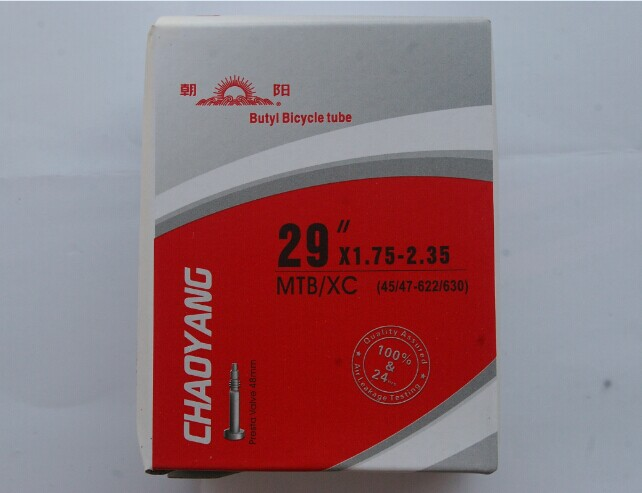 Chaoyang 29&times 1.75/1.95/2.35 mountain bike/bicycle tire tube 48mm mouth tube inner tube