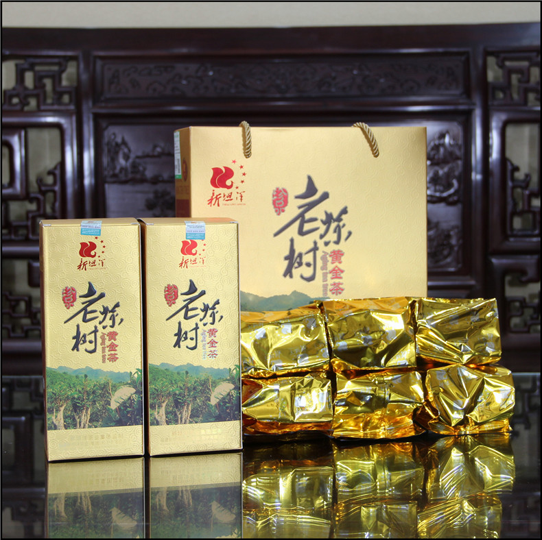 New Tang Yang bulk bag gold tea aroma-type gift box Old tea tree 150g*2 gift box