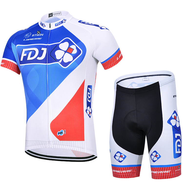 Clover Team Spring/Summer Cycling Wear Shorts Short Sleeve Set Male Tour de France Bike Unicycle Shorts