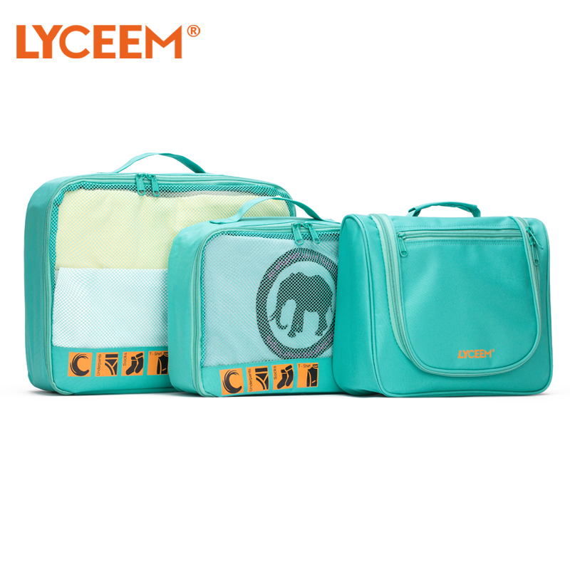Blue Orange Lyceem Travel Washing Storage Set Traveling Light Portable Finishing Makeup Inner Clothes Bag