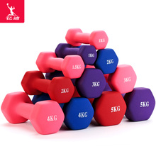 Ladies, small dumbbell, pair of household fitness, yoga, plastic arm, thin arm 1/2/3/4/5KG, children, men and women.