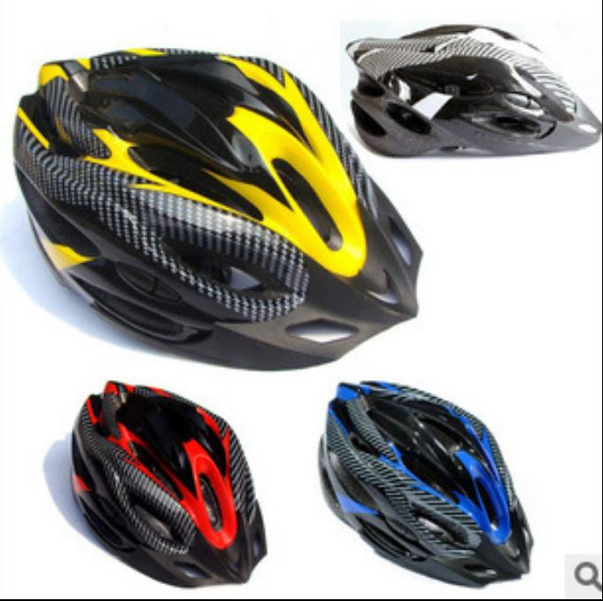 Carbon fiber split helmet mountain bike helmet riding equipment accessories