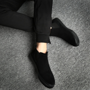Men casual boots boots Martin Korean tide in autumn and winter and warm two winter cotton padded shoes cashmere suede shoes shoes