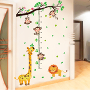 Children room wallpaper cartoon wall stickers babymeasurement self-adhesive stickers decorative removable nursery wall height