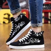 Men's summer shoes breathable new canvas shoes casual shoes shoes high help Korean students summer youth shoes