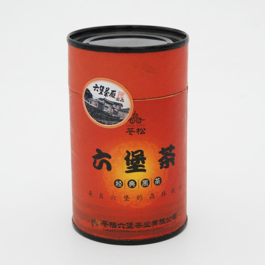Cangsong Liubao Tea 0612-02 Small paper jar cooked tea