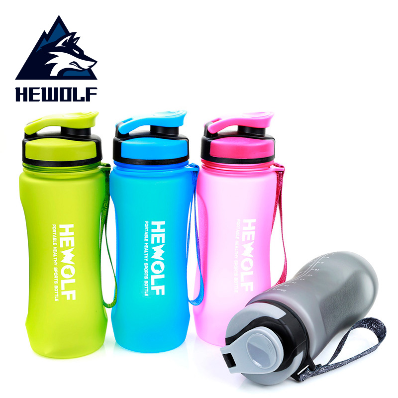 Outdoor Portable Water Cup for Male Wolf Students Grinding with Cup Space Sports Water Bottle Mountaineering Travel Water Bottle Fitness
