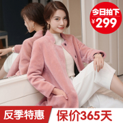Haining 2017 new season special offer sheep shearing in the long fur coat fur collar coat female body