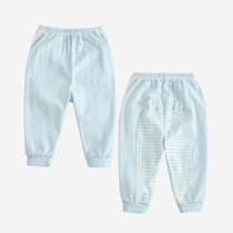 Spring new baby boy pants infant cotton PP pants trousers at home color cotton factory custom processing