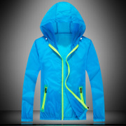 Sunscreen clothing lovers summer outdoor jacket men and women slim hooded skin clothing sunscreen clothing mens jacket
