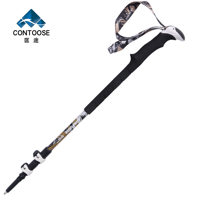 匡 老 老 Eagle carbon trekking pole ultralight walking sticks Three telescopic outdoor canes crutch sticks outside lock