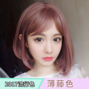 Short hair short hair curly hair head Bobo head of the pear head inside the natural color of the Korean grandmother grey wig