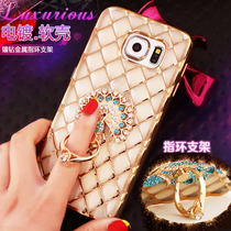 Samsung S7 rhinestones phone case SM-G9300 case G930A silica gel Galaxy S7 ultra thin ring shell