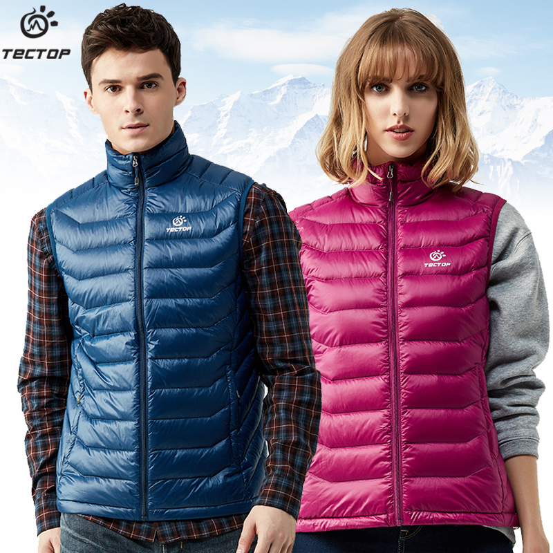 [The goods stop production and no stock]Explore the extension of outdoor sports down jacket men's winter light warm casual authentic cold vest women short paragraph