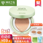 The vegetation in the heart cushion BB Cream Moisturizing Concealer lasting moisturizing refreshing nude make-up makeup CC strong isolation liquid foundation