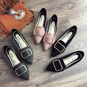 17 Korean fashion shoes with pointed suede low low shoes shoes all-match Doug shallow muzzle feet shoes shoes