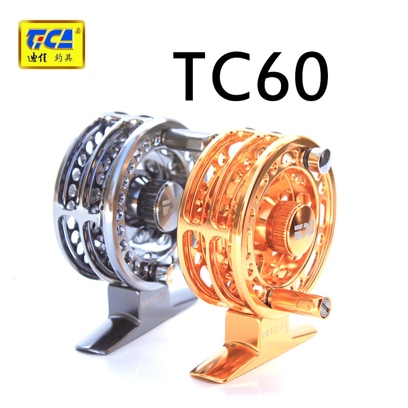 Dijia TC60 筏 flywheel fishing line reel fly fishing fly fishing ice fishing metal double slot authentic authorized