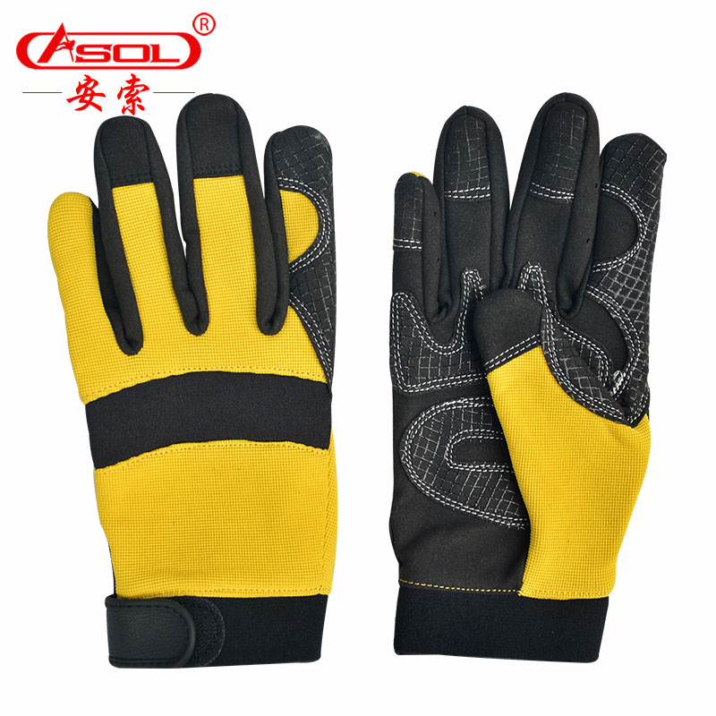 Enzo outdoor wear gloves palm non-slip gloves sports silicone breathable collision rescue gloves safety gloves