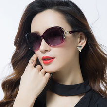 The new 2018 polarized sunglasses ms round sunglasses female star tide uv protection glasses big face and graceful
