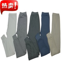 Men and middle-aged cotton Qiuku single cotton thin section warm pants plus fat loose line pants cotton pants pants 包邮