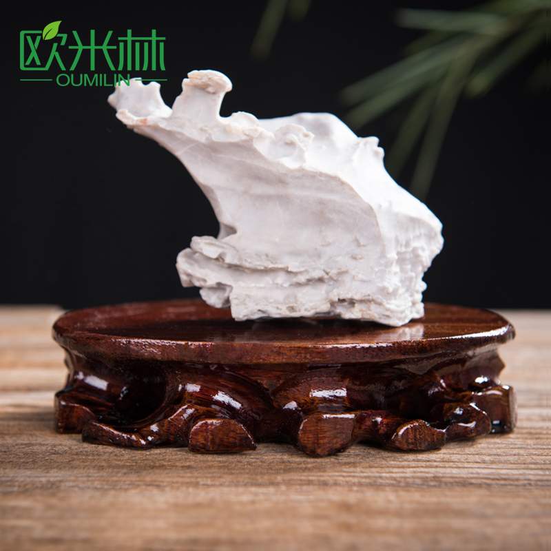 Quick Stone Base Ta81 Small Stone Base Solid Wood Diggable Trench Arrangement Teapot Bottom Bracket Wood Bracket