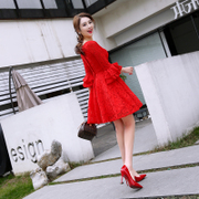 Toast the bride in the spring 2017 wedding new small dress dress party short summer Korean style evening dress