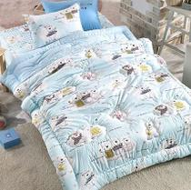 South Koreas global share of purchasing childrens bedding and winter padded blue cotton quilt baby bear boy pillow case
