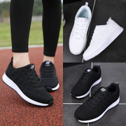 The fall of 2017 new students a Korean female shoes running shoes casual shoes sports shoes black shoes breathable mesh
