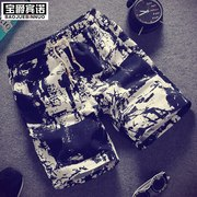 Summer beach pants pants men's casual pants pants pants summer loose straight movement five pants tide