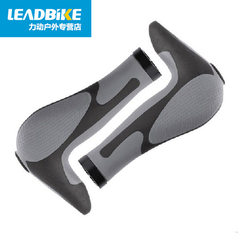 Bicycle handle sets of mountain bike anti-skid handle dead fly riding aluminum alloy Horn lock rubber handlebar handle