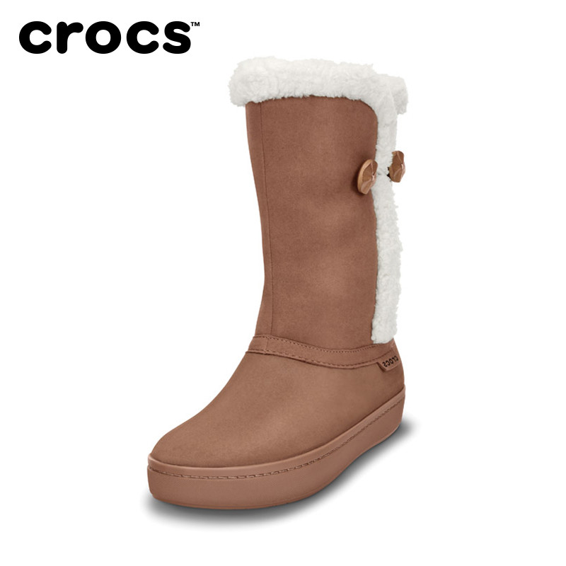 Crocs Luo Chi shoes Modisha suede flat with snow boots female warm boots boots |14777Q
