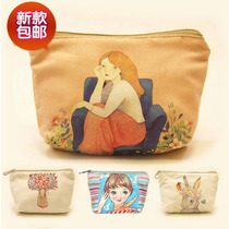 Creative Canvas Coin Purse Student Small Purse Korea Lovely Coin Bag Female Mini Clutch Bag Small Card Bag