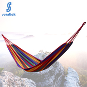 Mountain guest room hammock outdoor single dormitory dormitory students thickening canvas hammock to send the bag